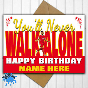 Liverpool FC Personalised Birthday Card Any Name/Relative/Age 30th 40th 50th etc