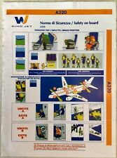 WIND JET AIRBUS A320 safety on board instruction guide manual