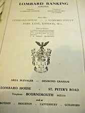 BLANDFORD ROAD RACE PROGRAMME 1950  ELVA FRAZER NASH TURNER ERA HRG HEALEY JAP