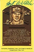 Hoyt Wilhelm Autographed/Signed Hall of Fame Plaque