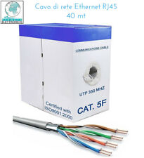 MATASSA CAVO DI RETE FTP CAT 5E LAN ETHERNET 5 E INTERNET NO SCHER 40 METRI