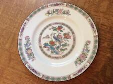 """Wedgwood Kutani Crane bone china 8"""" salad plate brown rim"""