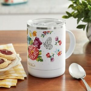 The Pioneer Woman Travel Coffee Mug Cup Blooming Bouquet Insulated 12 oz NEW 🎁