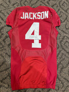 Eddie Jackson Game Used/Signed Alabama Crimson Tide Jersey 9/28/13 Ole Miss