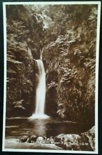 RPPC Isle of Man UK Postcard Early 1900s Rare Sulby Tholt-E-Wil Glen Waterfall