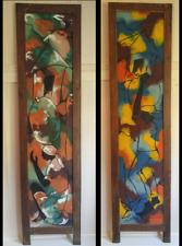 Paul Beauvoir Painting Haiti Large Double Sided Panel 71 x 16 inch Acrylic