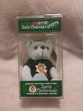 Justin Timberlake Limited Edition Sports Bear Beanie 2000 Nsync Collectible