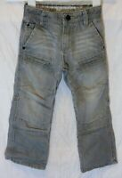 Boys Next Grey Whiskered Denim Panelled Relaxed Fit Utility Jeans Age 4 Years