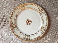 "Vintage Nippon Gold Handpainted Plate 7.5"" Gold Filigree"