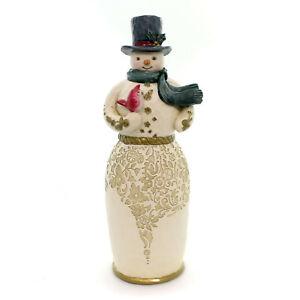 Jim Shore Friendship Is Golden Golden Garland Snowman 4058760 New MIB