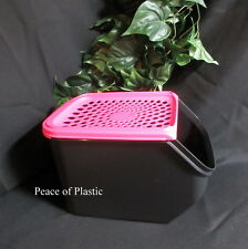 Tupperware New  Black Onion & Garlic Smart Mate Container ACCESS PINK PUNCH Seal