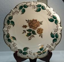 """Gorgeous Schumann Arzberg Germany 22kt Gold & Green Rose 12"""" Charger Plate"""