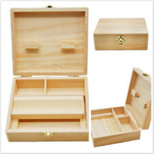 Storage Smoking Stash Box Rolling Tray Large Accessories Rangement Wooden Box