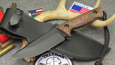TREEMAN  T.A.S.S. NAVY SEAL TEAM COMBAT KNIFE WITH TREEMAN LEATHER SHOP SHEATH