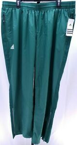 Adidas NWT Women's MV Modern Varsity Woven Athletic Pant GREEN / WHITE Sz 2XLT