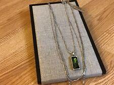 """NWT Uno de 50 Multiple Strands Green Swarovski Crystal Necklace """"Aurora Borealis"""