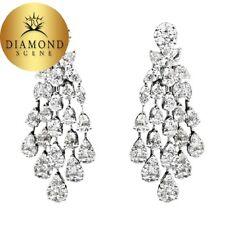 Diamond Earring Dangle Pear Marquise Shape
