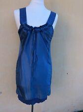 Magnifique robe bleu 100% soie Stella Mc Cartney 38 tbe