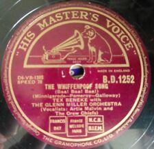 "Tex Beneke - The Whiffenpoof Song / Pin-Striped Pants - HMV B.D.1252 - UK 10"""