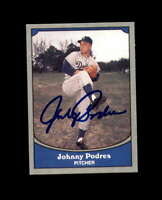 Johnny Podres Signed 1990 Pacific Baseball Legends Los Angeles Dodgers Autograph