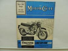 Oct 1960 The Motorcycle Magazine Triumph Tiger 110 Bonneville 120 Tiger L10596