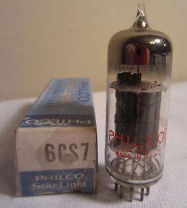 Philco Étoile Lumière 6CS7 Électronique Tube en Boîte