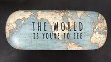 Vintage World Map Travel Hard Spectacle Glasses Sunglasses Case Gift