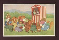 Margaret Tempest artist anthropomorphic ANIMALS PUNCH AND JUDY c1920/30s? PPC