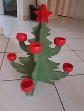 Lichterbaum aus Holz mit Teelichthaltern, Weihnachtsbaum,Kerzenhalter Deko
