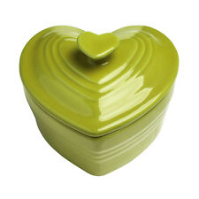 Amour Mini Cocotte Dish 320ml Green Stoneware Heart Shaped Baking Cooking New