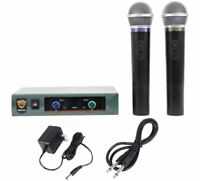 Nady Pro DKW-DUO Dual VHF Wireless Microphone System Handheld Mic Sys