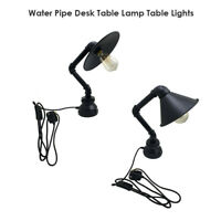 BedSide Table Lamps Desk Lights Retro Bed Light Black Industrial LED UK