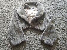 Karen Millen Faix Fur Grey Size 14 Shrug Style Single Close