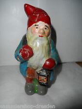 25152 Alter Gartenzwerg 17cm garden vintage gnome Laterne garden lantern