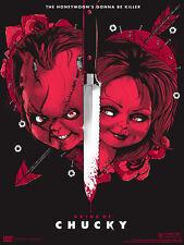 Bride Of Chucky Movie Screen Print Poster by Matt Tobin Child's Play