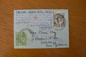 1937 TONGAN TIN CAN MAIL NIUAFOOU - NEW ZEALAND