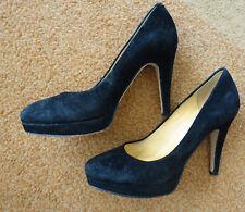 Buffalo_Damen Schuhe Pumps Gr.37 schwarz Wildleder Leder