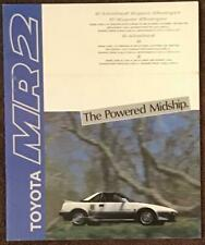 TOYOTA MR2 Large Format Car Sales Brochure c1985 JAPANESE TEXT #281012 - 6207