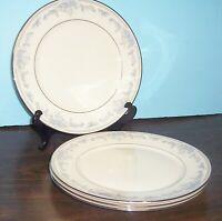 "4 LENOX REVERIE COSMOPOLITAN COLLECTION DINNER PLATES 10.75"" PLATINUM FREE SHIP"