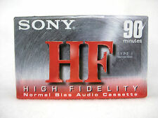 Sony HFC 90 min Blank Cassettes High Fidelity Normal Bias 4 Pack Factory Sealed