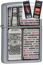 Zippo 28344 jim beam emblem Lighter with *FLINT & WICK GIFT SET*