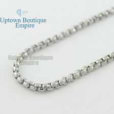 """18-36"""" Men stainless steel Gold Silver Black Pearl Box Necklace Chain"""