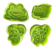 Garden Bugs Insect Plunger Cookie Cutter Set ~  Bee, Frog, Beetle & Butterfly