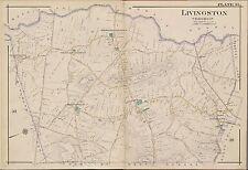 1904 E. ROBINSON, NEW JERSEY, LIVINGSTON POST OFFICE, COPY PLAT ATLAS MAP 24X36