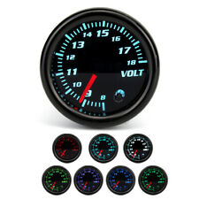"""Universal 2"""" 52mm Car ATV 7 Color LED Volt Voltmeter Voltage Gauge Meter 8V-18V"""