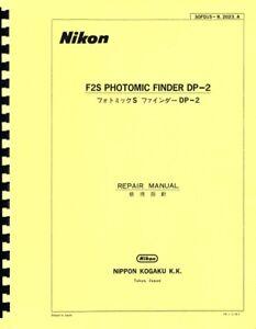 Nikon DP-2 Photomic Finder for F2S (1975) Repair Manual Reprint