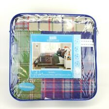 Boys Sports Twin Quilt 4 piece Set Reversible with 2 Shams 1 Pillow