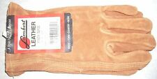 Lambert 415 Rust Keystone Ranch Suede Leather Gloves Small USA Made
