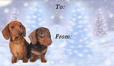 Dachshund Christmas Labels by Starprint - No 4