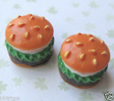 "10pcx 0.5"" 3D Burger Resin Flatback Appliques/Miniature/Embellishment/Food SB191"